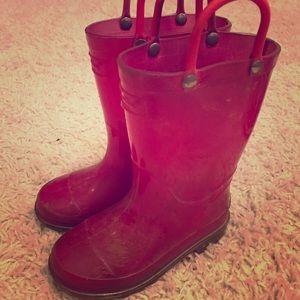 Light up rain boots